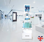 Premium Sanitising Station White - Shops