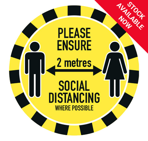 Circular Floor Sticker - Choice of 9 Stock Available Now