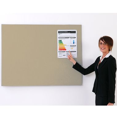Unframed Woven Fabric Noticeboard