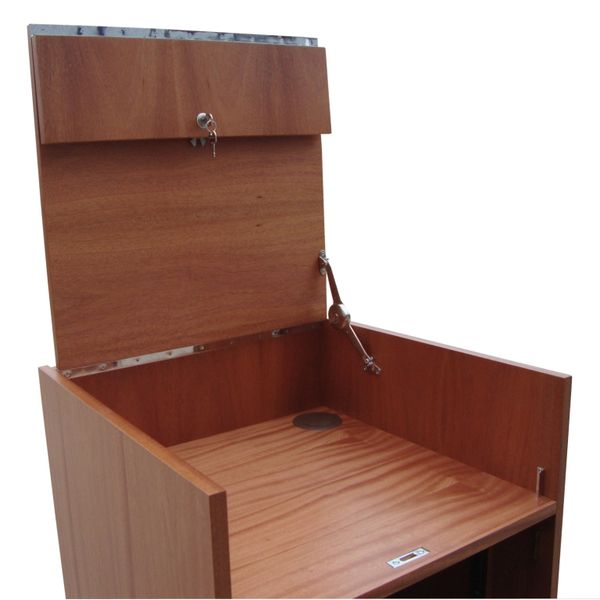 Wood AV Cabinet 04 hinged top