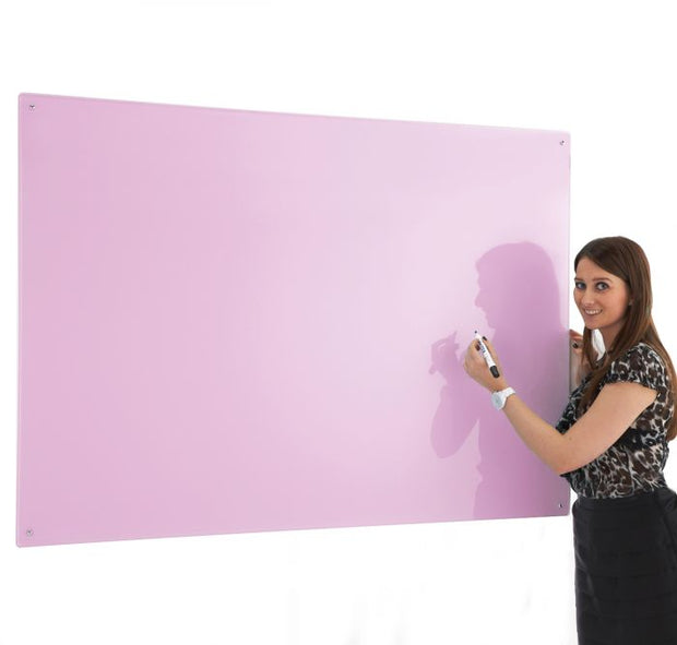 Write on Glass Whiteboards (Pink)