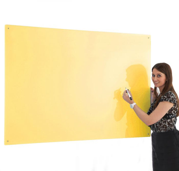 Write on Glass Whiteboards (Yellow)