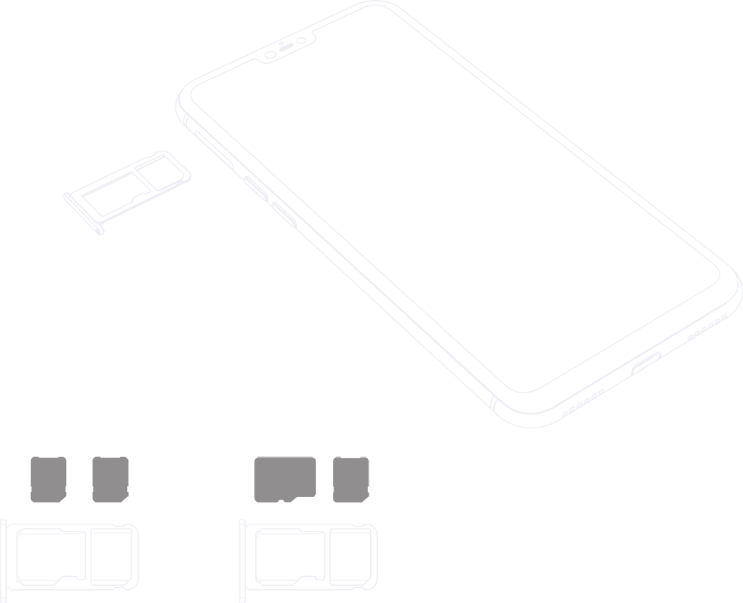 Z1 with micro and nano SIM cards