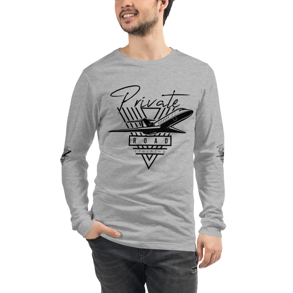 Unisex Long Sleeve Private Plane Tee
