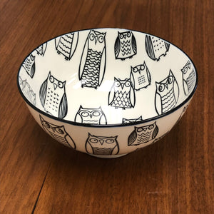 "Owl Serving Bowl - 6"" (small)"