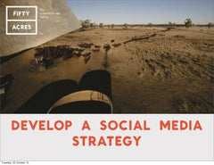 Develop a social media strategy