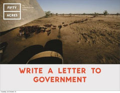Write a letter to Government