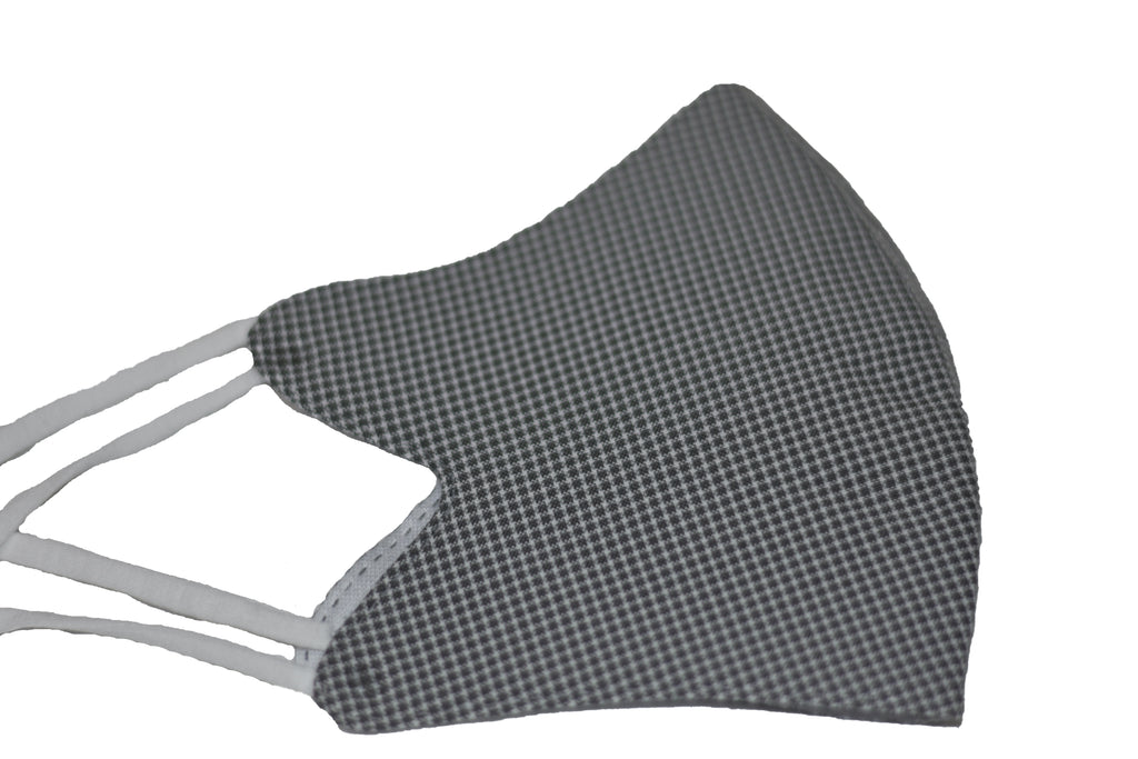 Black Checkers - Reusable Designer CDC Face Mask COVID-19 Corona Virus Protection