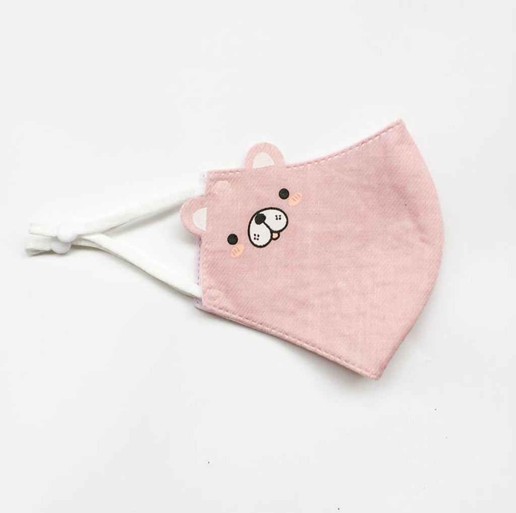 Pink Bear - Reusable Designer CDC Face Mask COVID-19 Corona Virus Protection