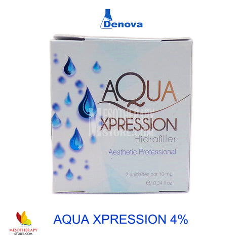 Aqua Xpression Hidrafiller Hyaluronic 4% By Denova 2 Vials x 10ml