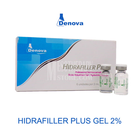 Hidrafiller Hyaluronic Acid Plus Gel 2.0% 6 Vials x 2ml By Denova
