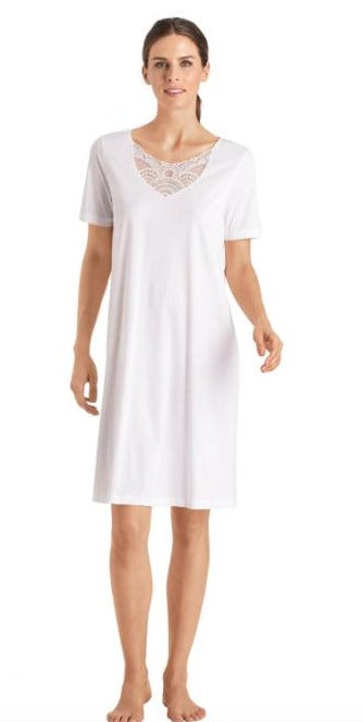 HANRO Moya Short Sleeve Gown
