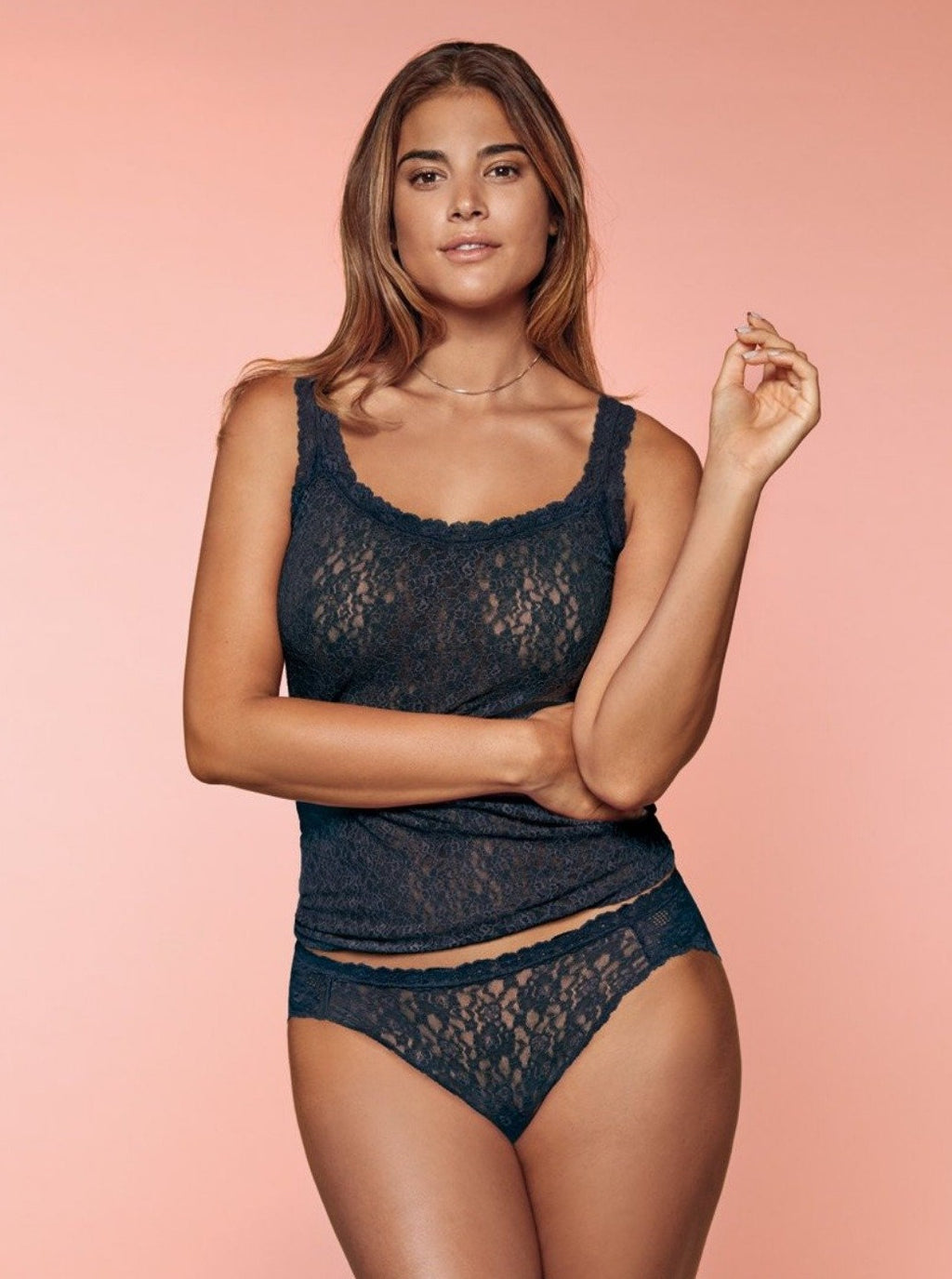 Dark grey. The DOLCE AMORE collection combines lace with extreme elasticity and soft stretchy lace.  Comfortable, soft and invisible.