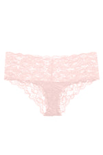 This Pink Lily coloured boyshort is made by Cosabella. The Never Say Never collection is loved for its beautiful floral pattern and innovative lace. Crafted in Italy with the highest quality materials. Low rise boyshorts Soft, stretch scalloped lace that lays flat Stretchy lace at waistband Moderate rear coverage Cotton lined gusset