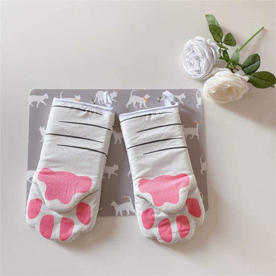 3D Cat Paws Heat Resistant Gloves