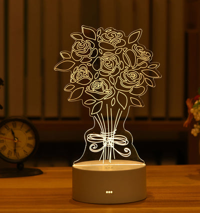 3D Love Night Light