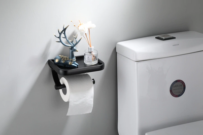 Wall Mounted Toilet Paper Holder Shelf