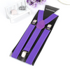 Unisex Solid Color Suspenders