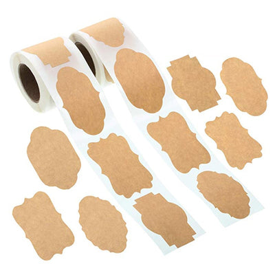 Kraft Paper Sticker Labels