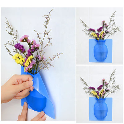 Silicone Sticker Vase Flower Pot