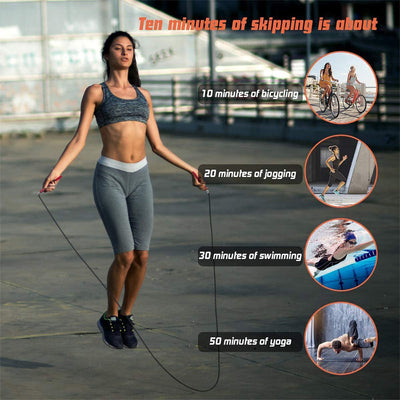Fitness Jump Rope For HIIT Cardio Workout