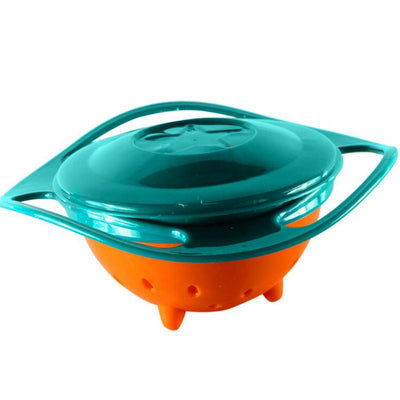Spill-Proof Baby Training Food Gyro Bowl