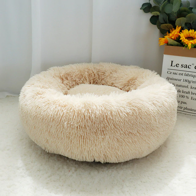 Warm Round & Fleece Small Dog Bed
