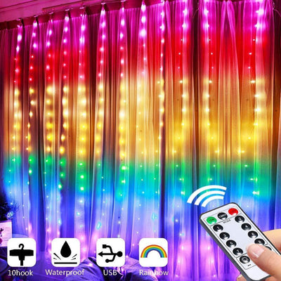 Rainbow Curtain Lights