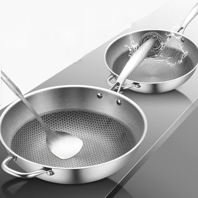 "12"" Non-stick Stainless Steel Wok"