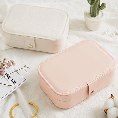Luxury Pastel Mini Jewelry Organizer Box