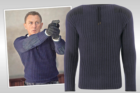 No Time To Die New Upcoming Movie Sweater James Bond Daniel Craig Wool Sweater