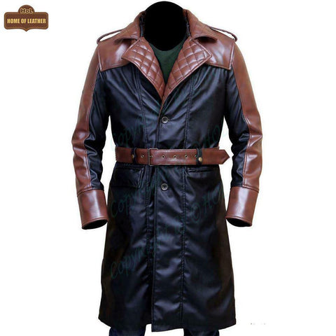 Assassin's Creed Syndicate Jacob Frye C001 Brown Trench Coat - Home of Leather