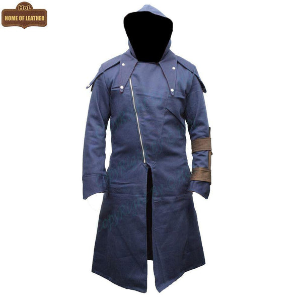 C008 Men's Unity Creed Arno Assassin's Dorian Cloak Cosplay Coat - Home of Leather
