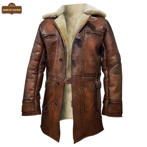 C010 Winter Batman Dark Knight Tom Hardy Bane Casual Coat Jacket for Men - Home of Leather