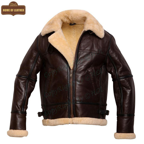 HoL B010 Aviator B3 RAF Shearling Pilot Bomber Men's Jacket - Home of Leather