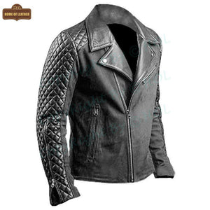 M007 Men's Stylish Black Fashion Real Leather Biker Jacket 2020 - Home of Leather