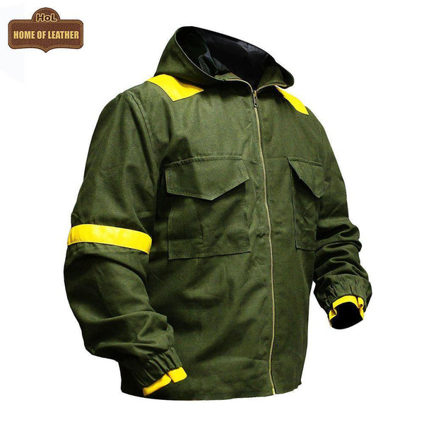 M040 Tyler Joseph Twenty One Pilots Storm Again Jumpsuit Cotton Green Hood Jacket - Home of Leather