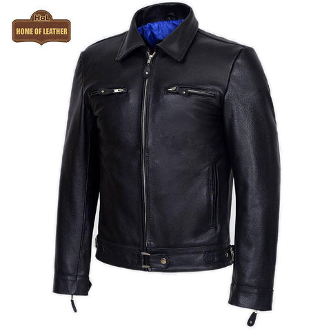 M082 German Luftwaffe Cowhide Biker Style Men's Jacket - Home of Leather