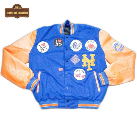 M083 Packer X Starter Coming to America New York Mets Men's Jacket - Home of Leather