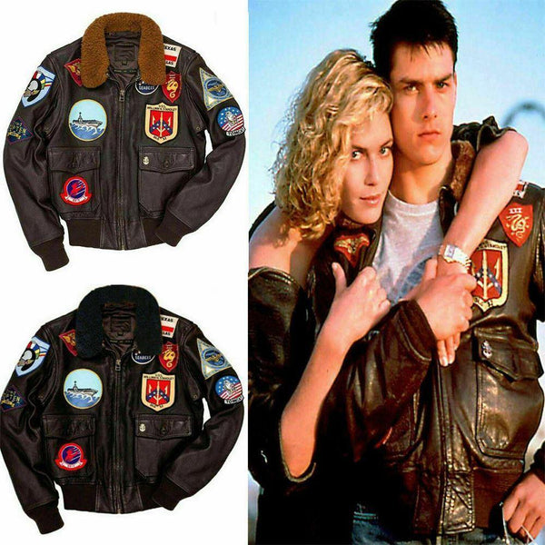 Top Gun: Tom Cruise Movie A2 M020 Cow Leather Jacket - Home of Leather