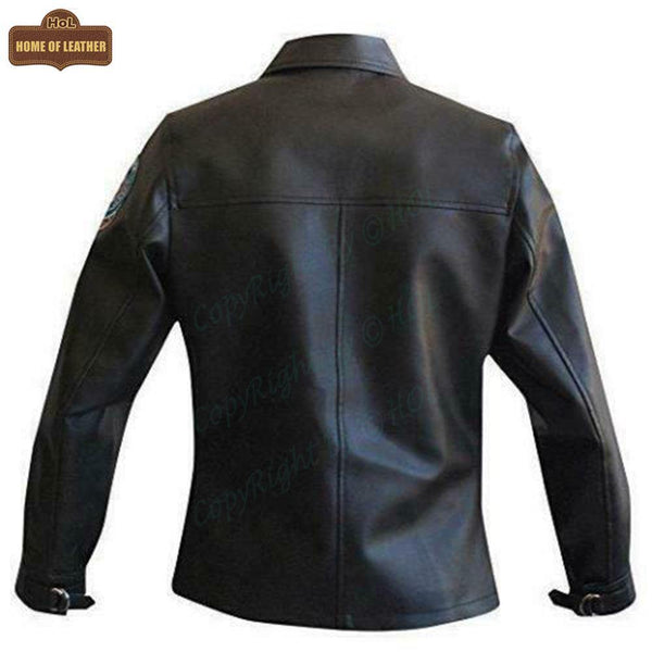 W006 Kelly McGillis Top Gun Black Fashion Real Leather Women's Military Style Jacket 2020 - Home of Leather