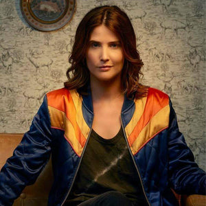 W010 Cobie Smulders Stumptown Satin Dex Pario Sunset Jacket - Home of Leather