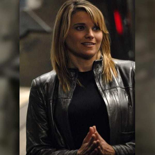 W013 Battlestar Galactica Lucy Lawless Leather Jacket - Home of Leather