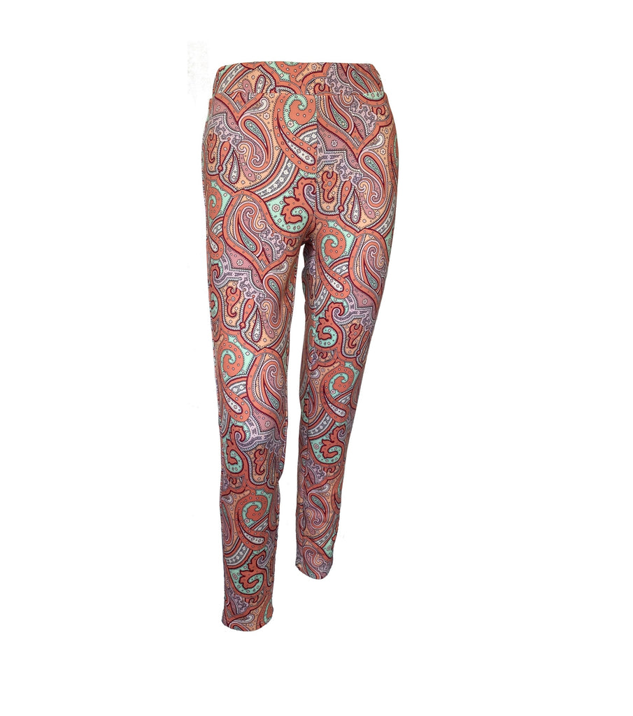 Livia Leggins in Paisley Muster Farbe lachs