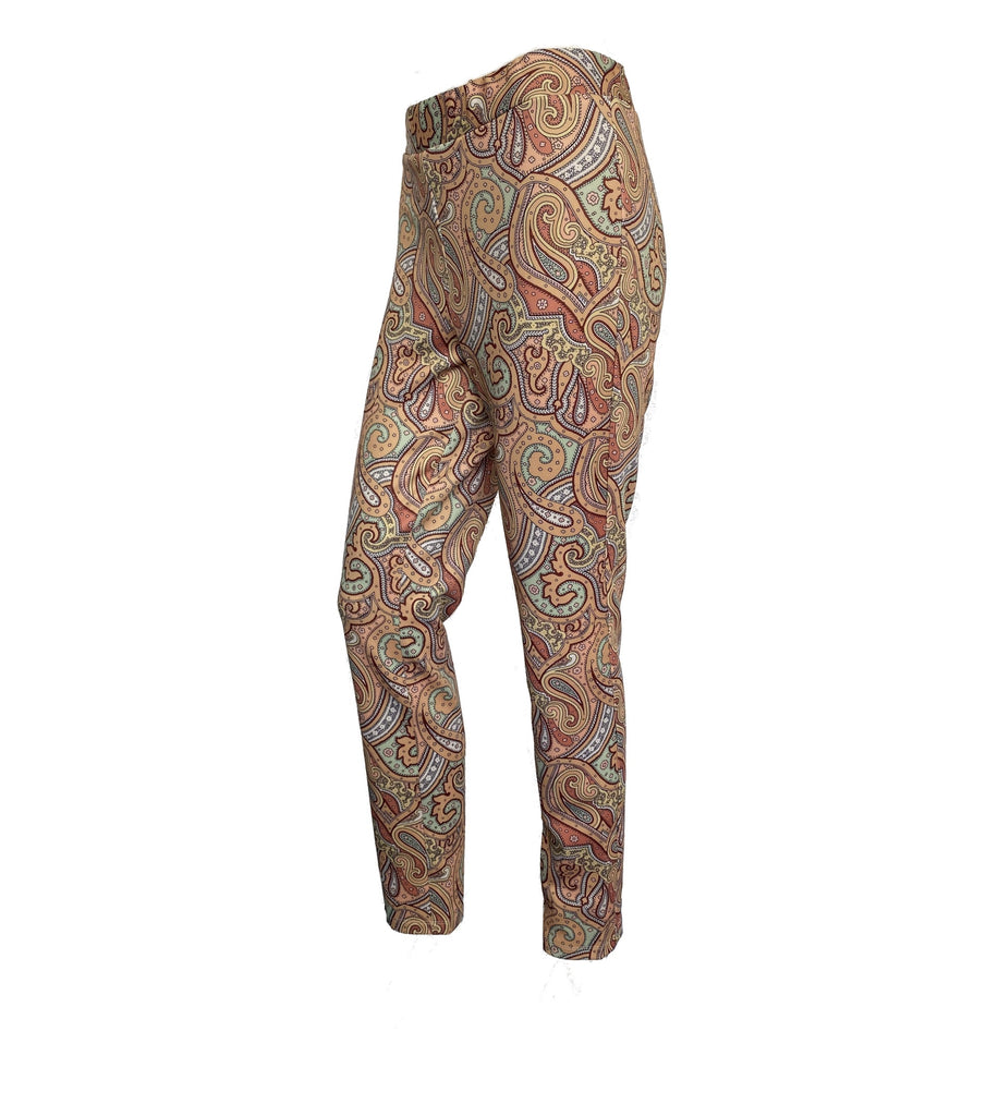 Livia Leggins in Paisley Muster Farbe camel
