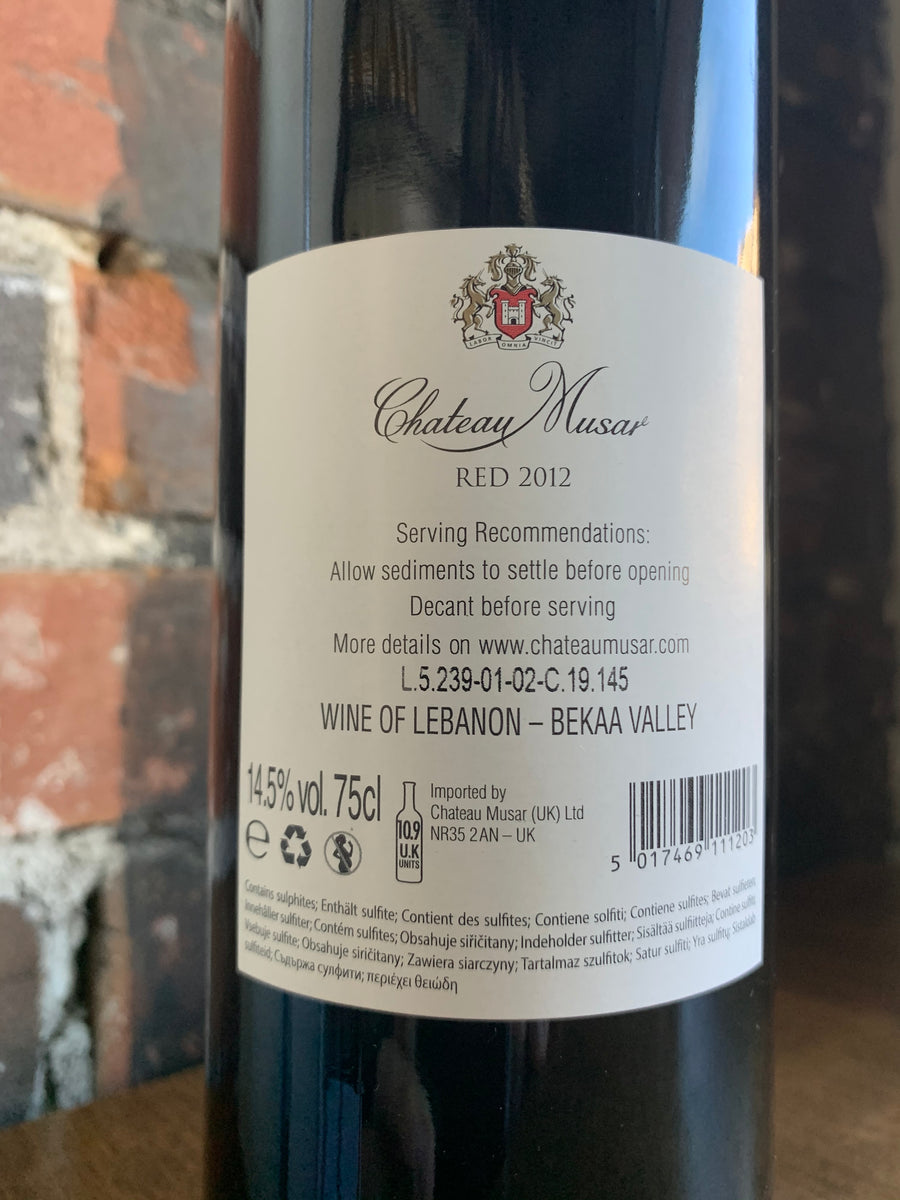 2012 Chateau Musar Red Blend