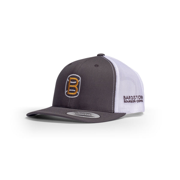Gray and White Snapback Hat