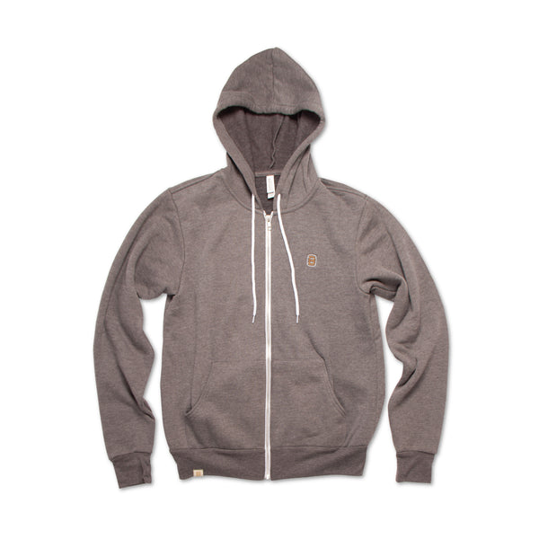 Unisex Charcoal Grey Barrel Logo Hoodie
