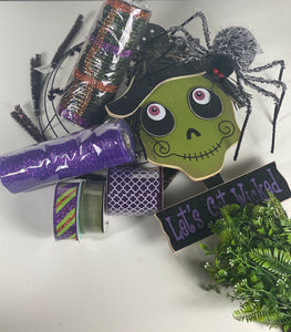 Witch Halloween Wreath Kit