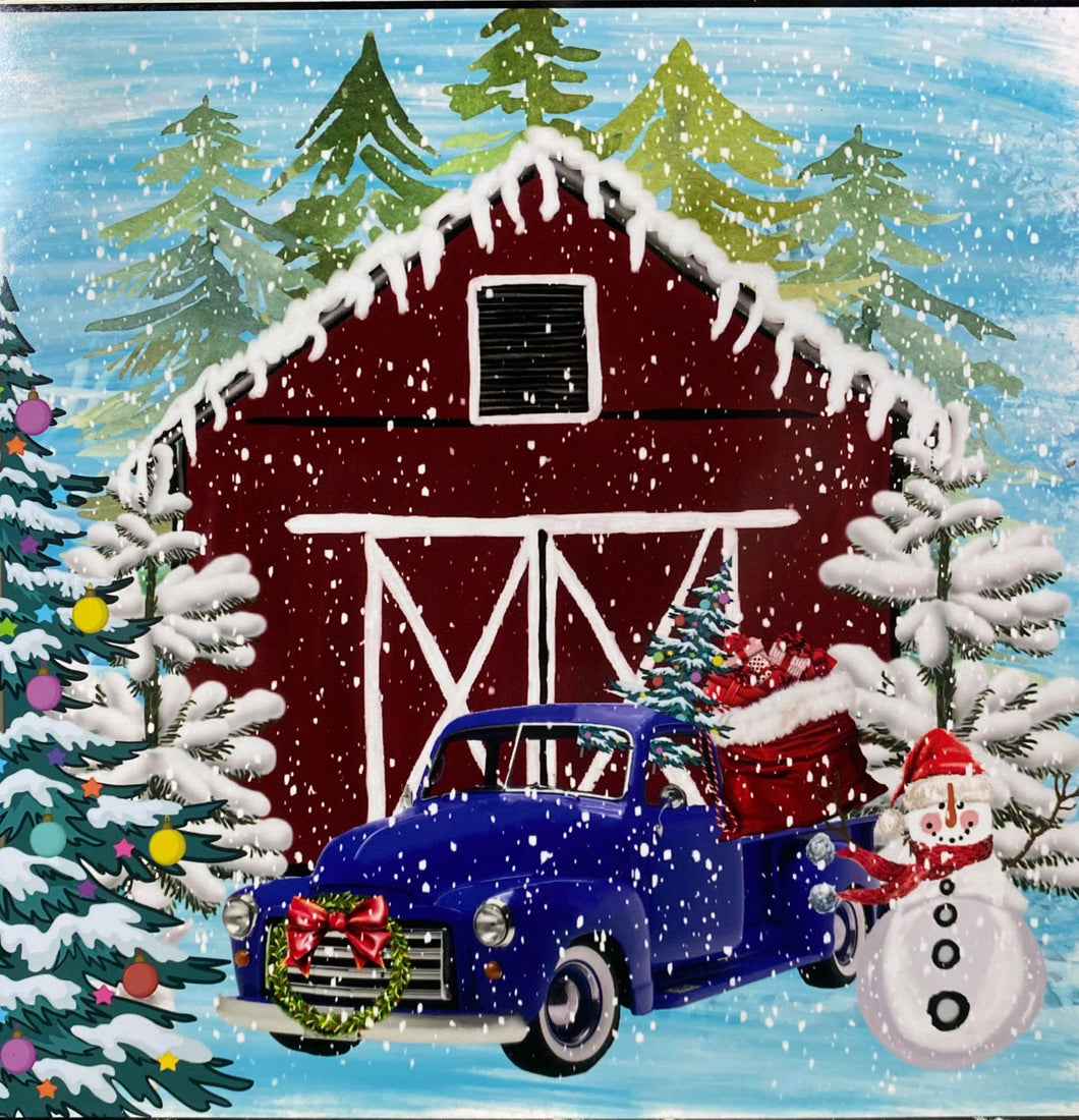 Country Christmas Sign 8x8